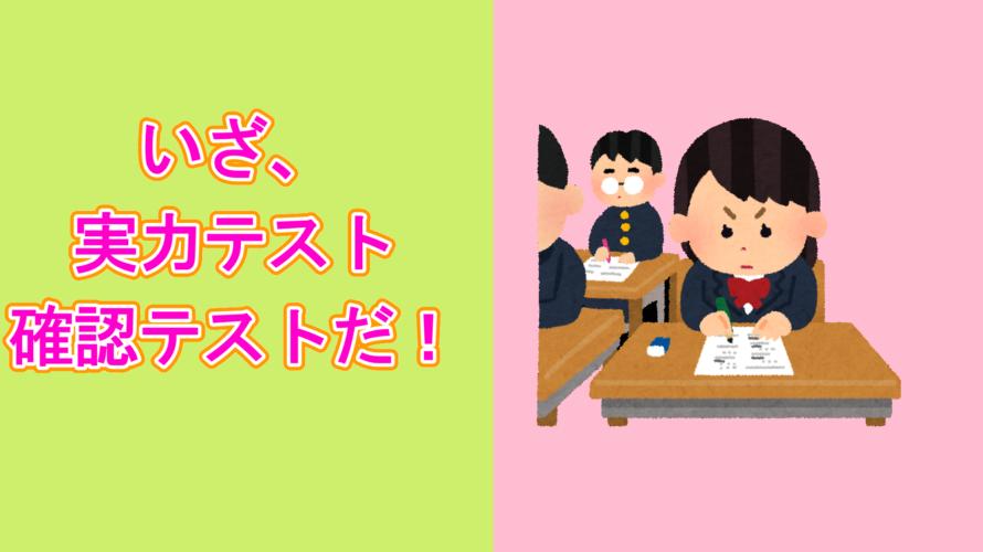 いざ、実力テスト(確認テスト)!